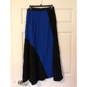 Color block maxi skirt, size L